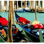 """EE-003 Gondolas on the Grand Canal"" by marywhitmer"