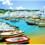 """EE-005 Mykonos Harbor"" by marywhitmer"