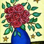 """Pink Roses and Stars"" by melsky"