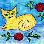 """Yellow Kitten"" by melsky"