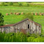 """Wellsboro Pennsylvania Hay Bales Rustic Barn"" by CuriousEye"