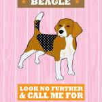 """Beagle Pink/Orange"" by Nose2Tales"