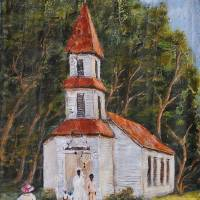 LITTLE CHURCH IN THE WOODS AFRICAN AMERICAN ART Art Prints & Posters by Larry