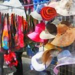 """Hats and Purses at Street Fair"" by susansartgallery"
