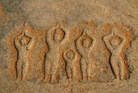 Carved Figures in the Rock Hampi
