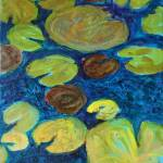 """""""Turquoise Waters 1, Abstract Waterlily Series"""" by schulmanart"""