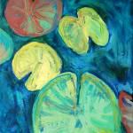 """""""Pond Gemstones 3 Abstract Modern Art Waterlily"""" by schulmanart"""