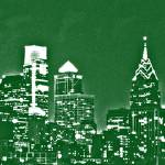 """Philadelphia Skyline Panorama - Eagles"" by jb265536"