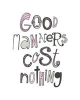 Good Manners Sketched • Pinks