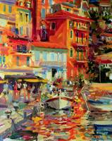 Reflections, Villefranche by Peter Graham
