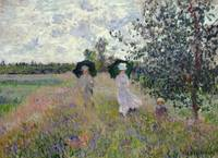 Promenade near Argenteuil by Claude Monet