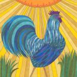 """Blue Rooster"" by Pamela_Schiermeyer"