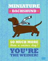 Dachshund Blue/Green
