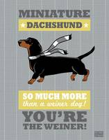 Dachshund2 Gray/Gold