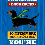"""Dachshund2 Royal/Red"" by Nose2Tales"