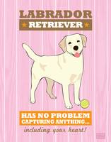 Labrador Retriever Pink/Orange
