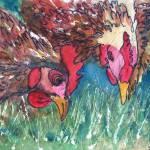 """""""Hen Pecked"""" by schulmanart"""