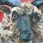 """Wooly Booly, Sheep Print"" by schulmanart"