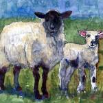 """Ewe and Me Against the World, Sheep Print"" by schulmanart"