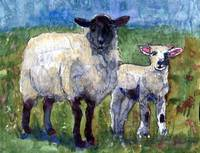 Ewe and Me Against the World, Sheep Print