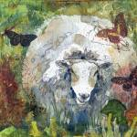"""Peaceful Pasture, Sheep Print"" by schulmanart"