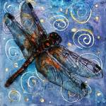 """Starry Starry Dragonfly"" by schulmanart"