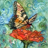 butterfly prints | Summer Butterfly Swirls I Art Prints & Posters by Miriam Schulman