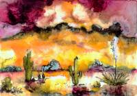 Arizona Sunset Landscape Painting