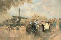 Cream Cracker MG 4 Spitfires by Peter Miller