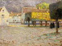 The Road, Songeons by Henri E. A. Le Sidaner