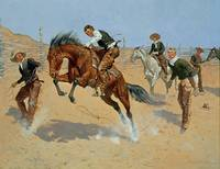 Turn Him Loose, Bill by Frederic Remington