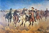 Dismounted: the 4th Troopers Moving by F. Remingto