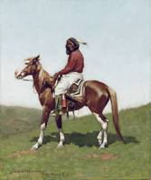 Comanche Brave, Fort Reno by Frederic Remington