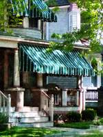 House With Green Striped Awning