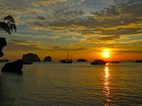 Sunset in Krabi, Thailand