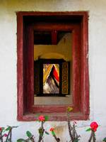 Monastry window in Luang Prabang, Laos
