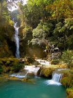 Waterfall near Luang Prabang, Laos
