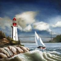 Rounding the Point-12x12-Hans Breuer