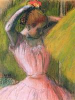 Dancer arranging her hair, c.1900-12 (pastel on pa