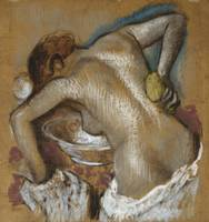 Woman Washing Her Back with a Sponge, c.1888-92 (p