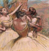 Three Dancers, c.1899 (pastel on paper)