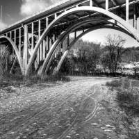 bridge b+w Art Prints & Posters by Mike and Amy Photography