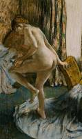 After the Bath, c.1883 (pastel on joined paper)