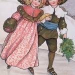 """Girl and Boy Skating, late 19th or early 20th cent"" by fineartmasters"