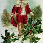 """Victorian Christmas postcard depicting a boy in re"" by fineartmasters"