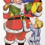 """""""Father Christmas, Victorian Christmas card (colour"""" by fineartmasters"""