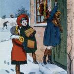"""Christmas Presents (colour litho)"" by fineartmasters"