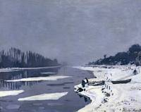 Ice floes on the Seine at Bougival, c.1867-68 (oil