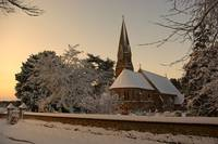 Winter Sunrise, St Peters Church, Ayot St Peters,