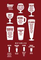 Beer Cheat Sheet Maroon